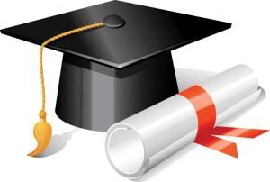 scholar cap and diploma