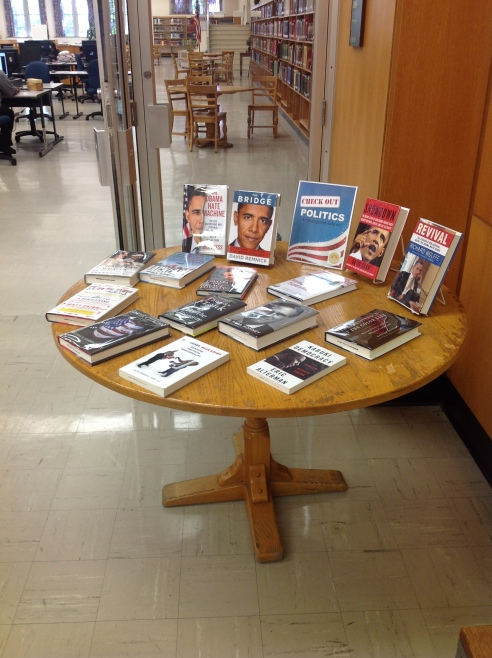 Politics book display